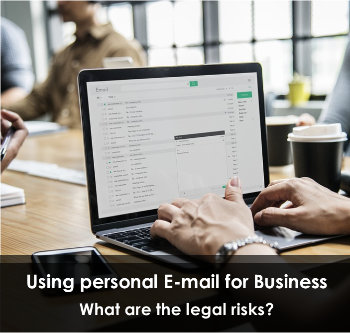 What are the legal risks of using a personal account for business?