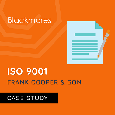 ISO 9001 Case Study for Frank Cooper and Son