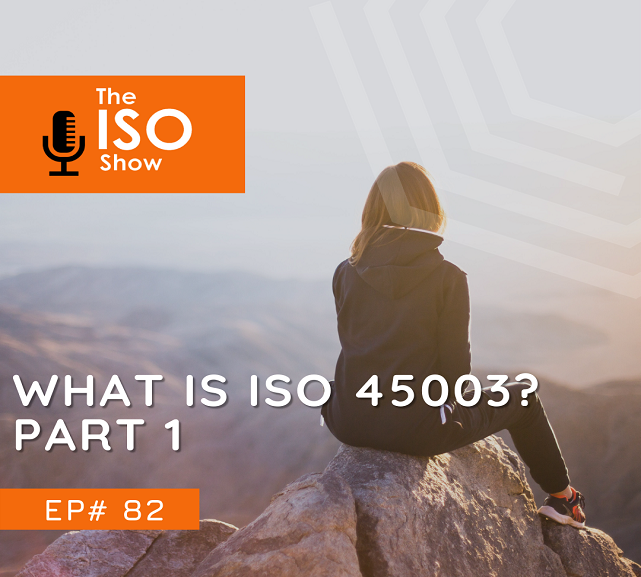 #82 What is ISO 45003? Part 1